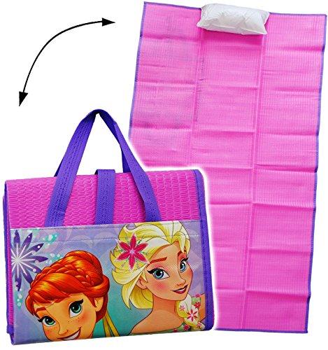 alles-meine.de GmbH gepolsterte _ Strandmatte / Strandunterlage -  Disney Frozen - die Eiskönigin  - 75 cm * 150 cm - incl. aufblasbares Kissen - wasserfest & faltbar - als UNT..