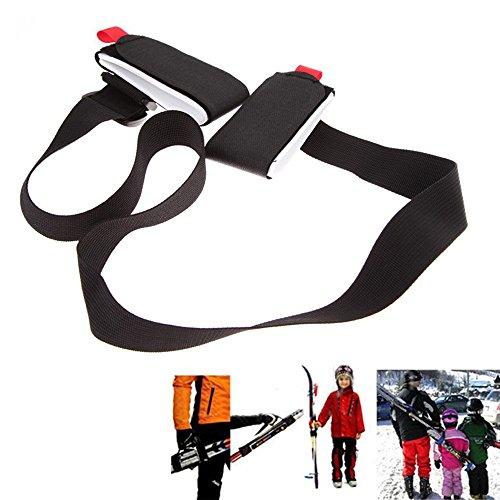 Porte Skis, Bandoulière Réglable pour Pack Ski, Système de Transport de Skis