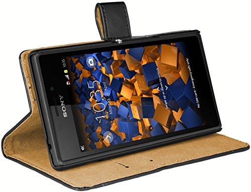mumbi Ledertasche im Bookstyle für Sony Xperia M2 Tasche