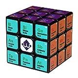 Speed Cube Juguetes educativos para niños Regalo Concurso de Rompecabezas 3x3x3 Tercer Orden Química de impresión UV del Cubo de Rubik Herramientas de Aprendizaje para Adultos,Black