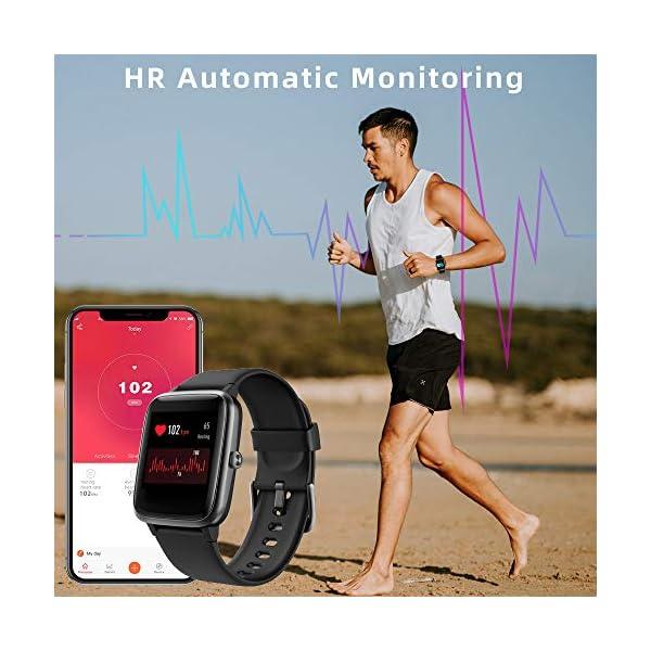 LIFEBEE Smartwatch, Reloj Inteligente Impermeable IP68 para Hombre Mujer niños, Pulsera de Actividad Inteligente con… 6
