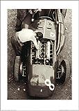 1art1 69843 Motorsport - Ferrari Mechaniker, Großer Preis Von Frankreich 1954, Jesse Alexander Poster Kunstdruck 70 x 50 cm