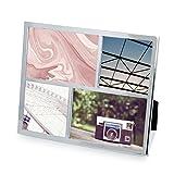 Umbra 1004211-158 Senza Multi Photo Display,  Multi - Bilderrahmen aus Metall, Chrome, (2) 10x10cm und (2) 10x15cm