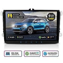 NEOTONE WRX-990A Android 9 Autoradio für VW | Skoda | Seat | 4GB Ram | 32GB Rom | Navi mit Europakarten | 9 Zoll | DAB+ Unterstützung | USB | WLAN | Bluetooth | MirrorLink | RDS | OBDII Unterstützung