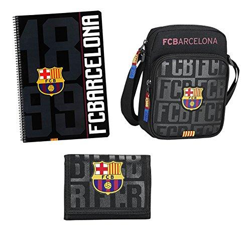 Futbol Club Barcelona- F.C FC Barcelona Set de Regalo pequeño, Color Negro, 35 cm (SAFTA 311725588)