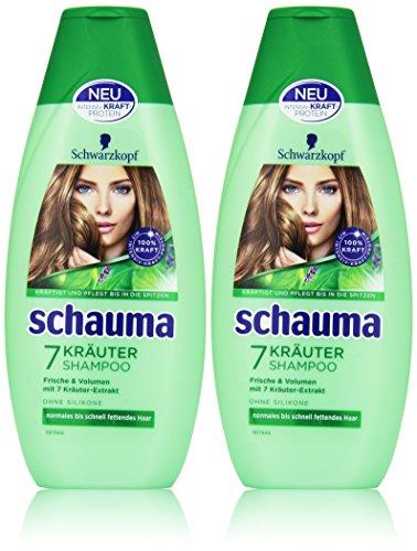 Schauma 7-Kräuter Shampoo, 2er Pack (2 x  400 ml)