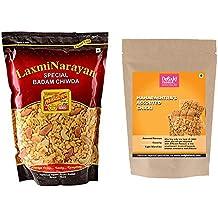 Laxminarayan Badam Chiwda-500g and Maharashtra Assorted Chikki-200g