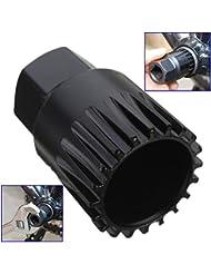 Malayas® Extractor Removedor de Pedalier 20- Dientes Herramientas de Reparación para Bicicletas Shimano MTB