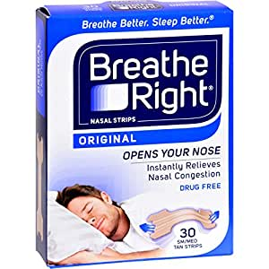 Breathe Right sm/med Tan (3 Pack) 90 Strips