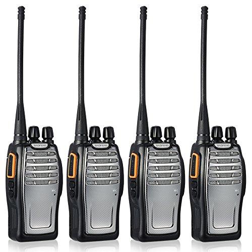 BaoFeng 16CH FM UHF 400-470MHz Talkie Walkie Transceiver 2-Wege-Radio Portable Handheld-Interphone lange Distanz 1800mah Akku Taschenlampe