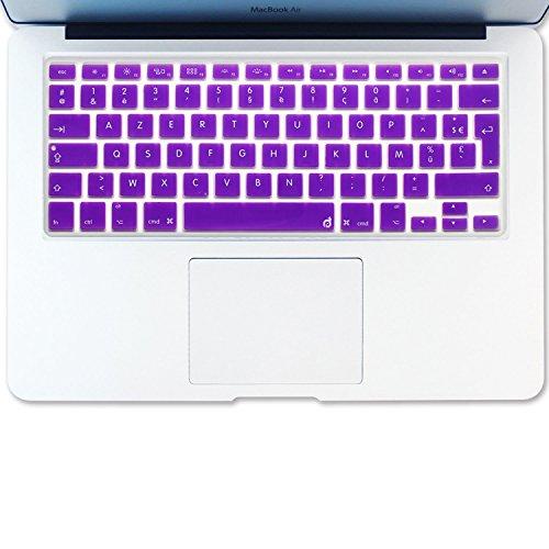 Pro Macbook Retina 15 Arabisch (Masino® arabischen Sprache Silikon Tastatur Cover Haut für europäische Version MacBook Air 33cm MacBook Pro mit/OUT Retina Display 33cm 38,1cm 43,2cm Apple Wireless Bluetooth Tastatur mc184ll/B Ultra Dünn, violett, FRENCH Language)