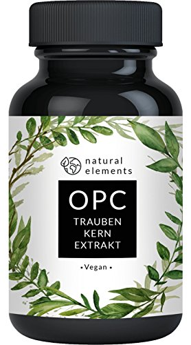 OPC Traubenkernextrakt - 240 Kapseln für 8 Monate - Laborgeprüftes Premium OPC aus europäischen Weintrauben - Ohne unerwünschte Zusätze - Hochdosiert, vegan und hergestellt in Deutschland -