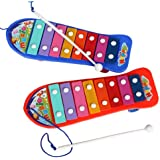 Prettyia Toddler Baby Skateboard 8-Note Xylophone Music Maker Kid Musical Toy Percussion