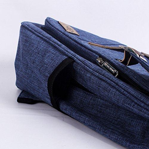 ZKOO Damen & Herren Vintage Rucksäcke Schulrucksack Leinwand Clamshell-Form Buch Taschen Laptoprucksack Reiserucksack Daypack Backpack College Stil Saphir