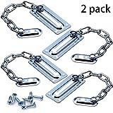 BETOY - Juego de 4 cadenas para puerta delantera de alta calidad, para puerta de seguridad, para identificación segura de la puerta