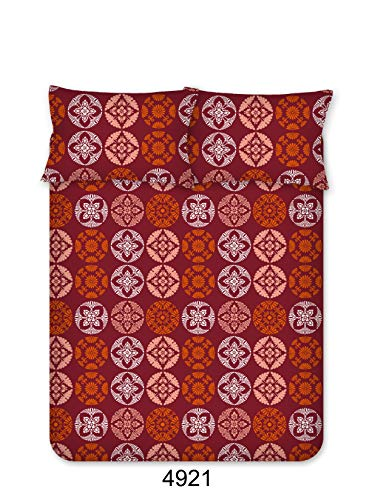 Bombay Dyeing Beeze+ 120 TC Cotton Bedsheet with 2 Pillow Covers - King Size, Maroon