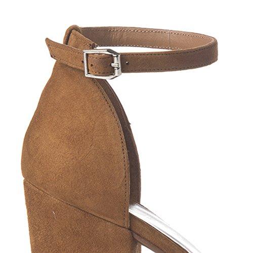Laura Moretti - Sandalen mit breiten Absatz Leather