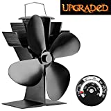 Silent Operation 4-Blade Heat Powered Stove Fan for Wood / Log Burner/Fireplace - Eco Friendly Sonyabecca