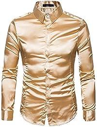 333ace4a821 Moonuy Personnalité Mode Hommes Casual Slim Charme Solide Couleur Costume  Chemise à Manches Longues Top Chemisier