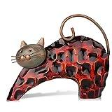 Tooarts Chat Sculpture en Métal Sculptrue Fer Sculpture Animalière Crafting Accueil Articles d'AmeuBlement Décoration Art