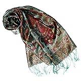 833af7e1b2eaf Lorenzo Cana Luxus Seidenschal für Frauen Schal 100% Seide gewebt  Damenschal elegant Paisley Muster Mehrfarbig