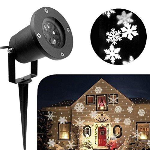 Hoch, Licht Im Freien (Weiß Umzug Schneeflocke LED Licht Projektor HARRYSTORE Weihnachten Im Freien Wasserdicht Projektor)