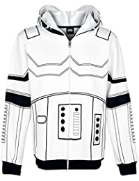 Star Wars Stormtrooper Sweat à capuche zippé blanc/noir