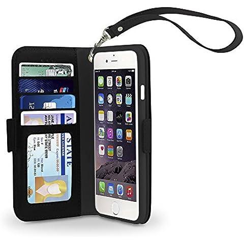 Custodia iPhone 6s Plus / 6 Plus, Custodia Protettiva a Portafoglio Slim Gear Beast Ecopelle PU iPhone 6s Plus / 6 Plus, 4 SLOT PORTATESSERE, AMPIA TASCA INTERNA e Cover Interna Protettiva in TPU