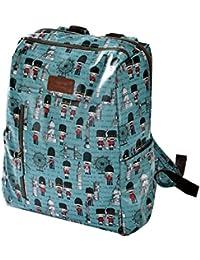 Mily Waterproof Canvas Printing Backpack School Bag Rucksack Blue