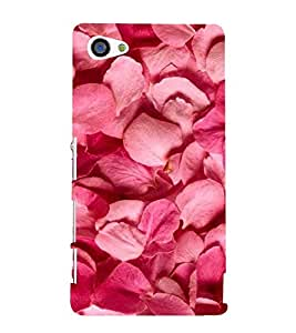 Pink Petals 3D Hard Polycarbonate Designer Back Case Cover for Sony Xperia Z5 Compact :: Sony Xperia Z5 Mini