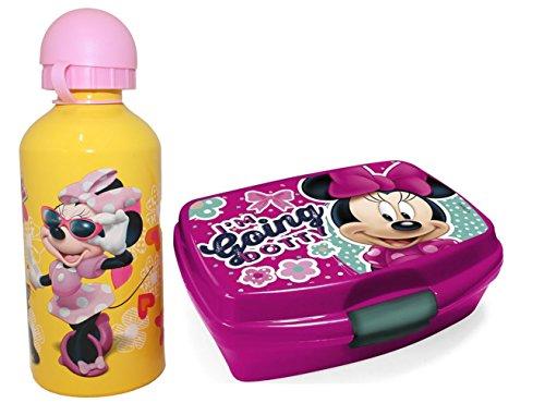 Disney Minnie Maus Brotdose und Aluminium Trinkflasche im - Aluminium-trinkflasche Disney