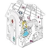 Spielhaus aus Pappe Prinzessin Pappspielhaus zum Bemalen Haus Spielzeug Karton