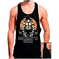 Camiseta Gimnasio Saiyans Gym (Dragon Ball) (M, Negro)