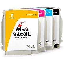 Mipelo Compatible 940 940XL Cartuchos de tinta utilizado en HP Officejet Pro 8500A 8000 8500 A909A A910A de la Impresora