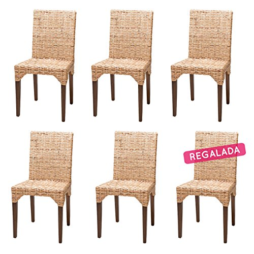 Rotin Design Rebajas : -51% Lote 6 sillas de ratán (kubu) Modernas...