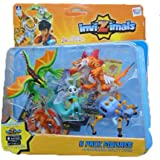 IMC Toys 30039 - Pack 5 Figuras Invizimals - JUNGLE DRAGON - TIGERSHARK - USAKO - SCUTTLE - HA HA YENA