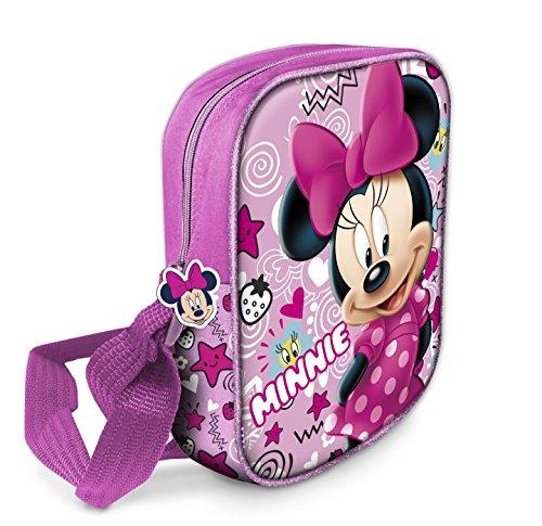 Star Licensing Disney Minnie Tracolla 3D Borsa Messenger, Multicolore