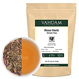 Herbal Tea Leaves from the Himalayas, 21 Ayurvedic Herbs from India blended with Premium Loose Leaf Green Tea,100% Natural Detox Tea, Healing, Energizing & Refreshing,Healthy & Delicious, 50 Cups, 100gm