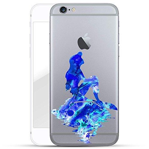 finoo   Iphone 5/5S Hard Case Handy-Hülle mit Motiv   dünne stoßfeste Schutz-Cover Tasche in Premium Qualität   Premium Case für Dein Smartphone  Regenbogen scheisse Meerjungfrau Blau