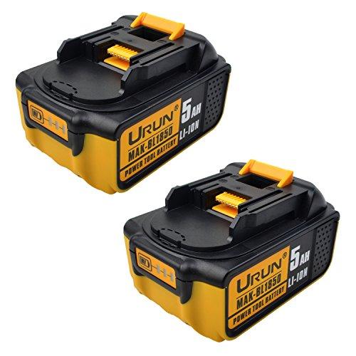 18V 5.0Ah BL1850B Lithium-Ionen-Akku mit LED-Betriebsanzeige Ersetzen Sie für Makita BL1830B BL1820B BL1840B BL1860B BL1820 BL1840 BL1850 BL1860 LXT-400 194204-5 194205-3 194230-4 194309-1 Serie Elektrowerkzeug (2*BL1850B)