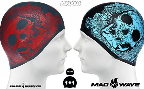 Totenkopf Wende Badekappe aus Silikon/Reversible Silicone Swim Cap Skull