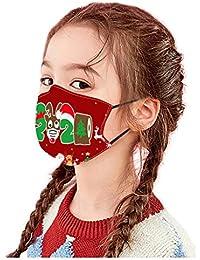 PañUelos Faciales De AlgodóN Reutilizables Lavables Con Estampado NavideñO Lindo De Moda Tiene Compartimentos Para NiñOs NiñAs NiñOs Halloween