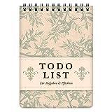 etmamu 456 To-Do-Liste A6, 60 Blatt, 3-spaltig, Aufgabenliste für Erledigungen und Zeit-Management