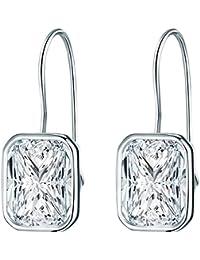 Rafaela Donata - Pendants d'oreilles - Argent sterling 925 oxyde de zirconium, boucles d'oreilles oxyde de zirconium, boucles d'oreilles, bijoux en argent - 60800017