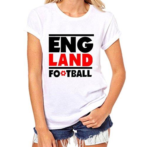 OSYARD Damen Sommer Mode Tees mit Front-Print Shirt mit Kkurzen Ärmeln T-Shirt O-Ausschnitt Bluse