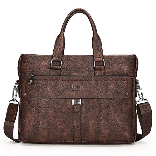 Mode - Business Aktenkoffer, Trend - Computer Bag, Umhängetasche, Umhängetasche brown