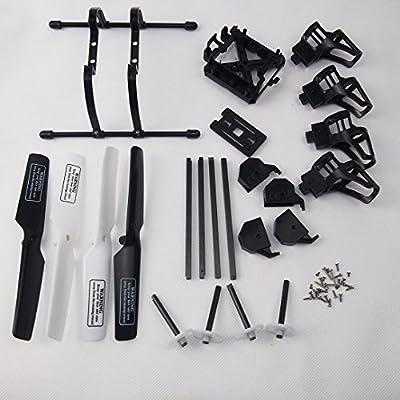 Wwman Spare Part Kit for UDI U818A WiFi FPV U818A-1 Rc Quadcopter Drone Blade Gear