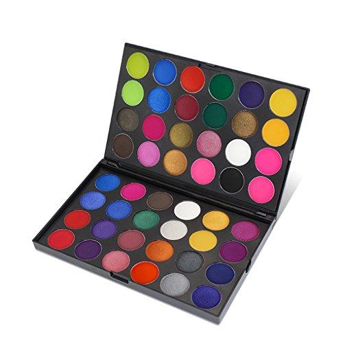 Providethebest 48 Farben Nails Shimmer Glitter-Puder-Palette Kit Augen Tint Multicolor Lasting Augen Make-up Schatten Set -