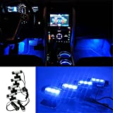 Tonsee 4x 3LED Car Charge 12V Glow Interior Decorative...