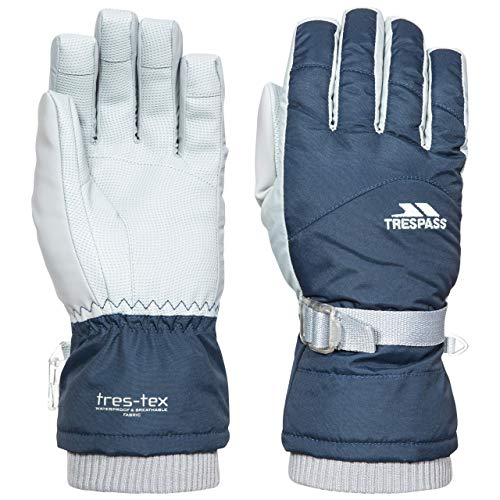 Hirschleder Gummizug (Trespass Damen Handschuhe Vizza II (S) (Marineblau))